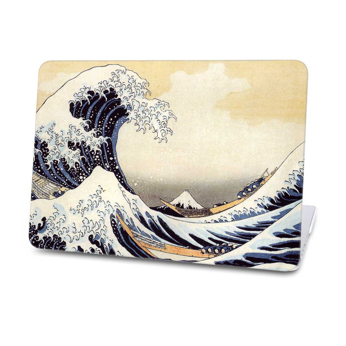 sea wave macbook case