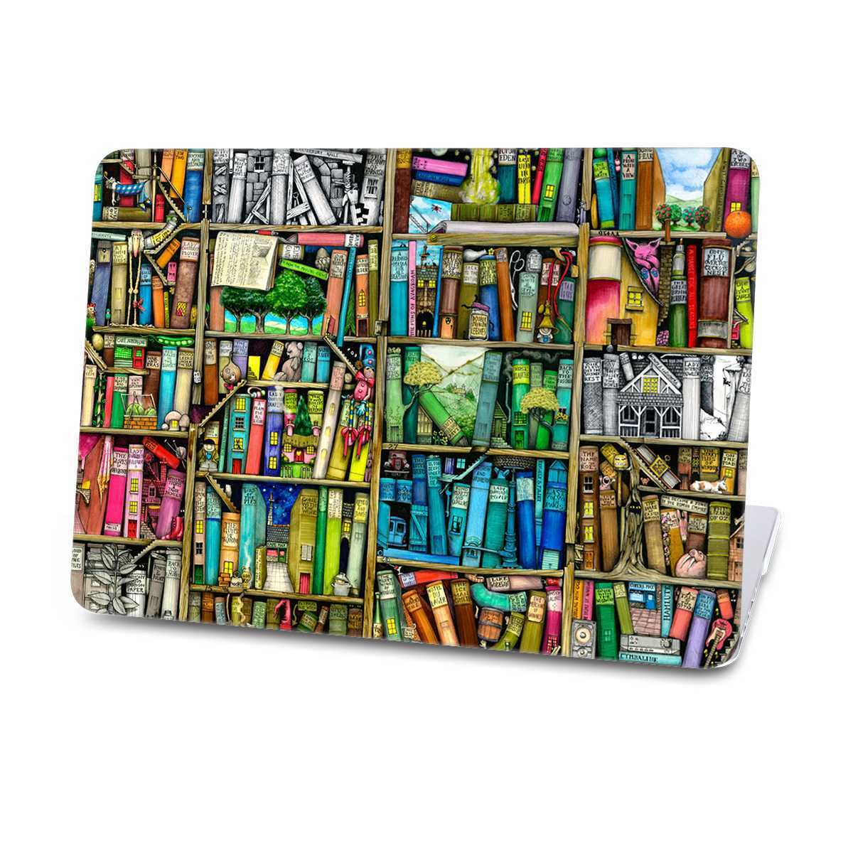 bookshelf macbook case