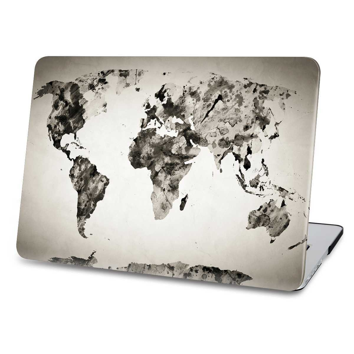 Black WorldMap macbook case