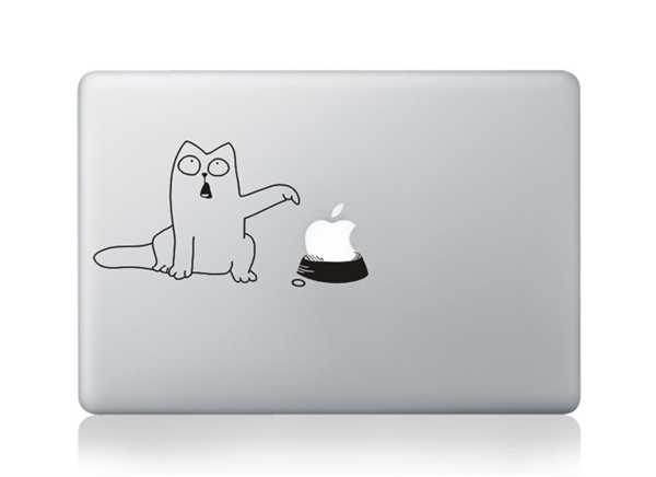 cat macbook decals
