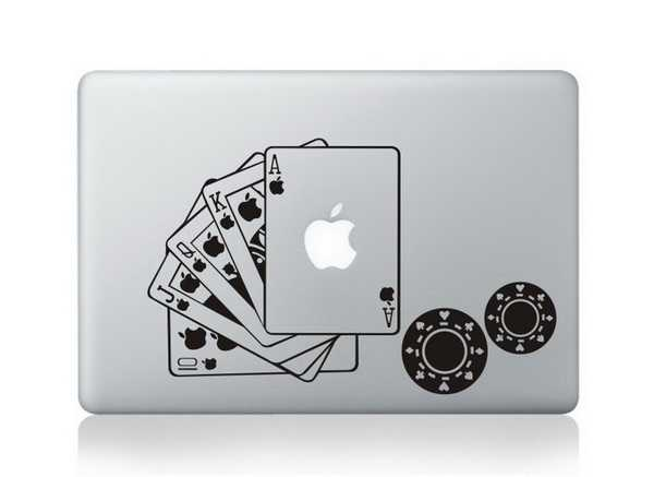 poker macbook decals