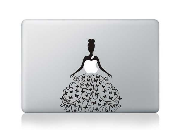 flower girl macbook decals