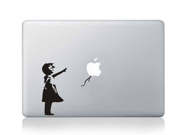 bansky macbook decals