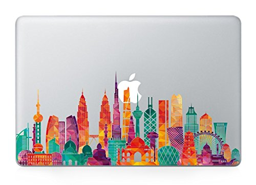 Dubai skyline macbook decals
