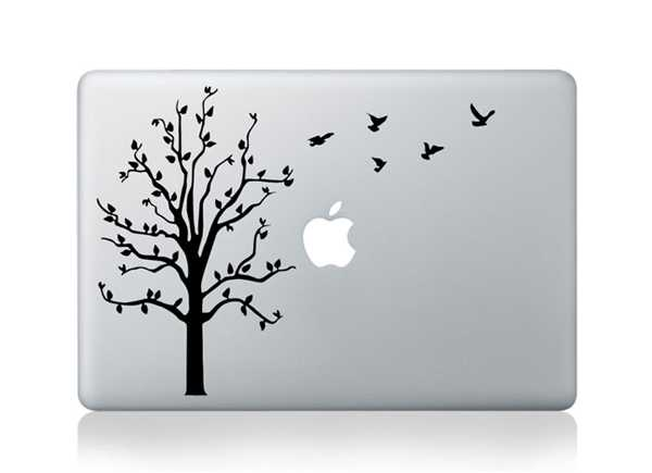 tree birds macbook decals
