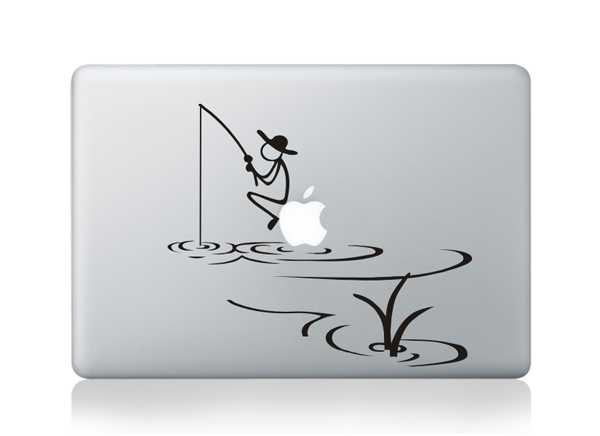 fish macbook decals