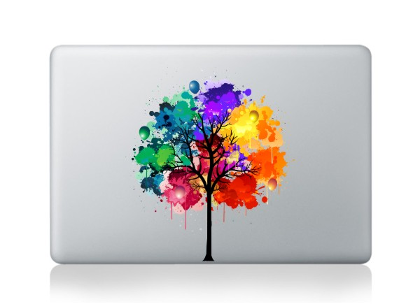 colorful tree macbook decals