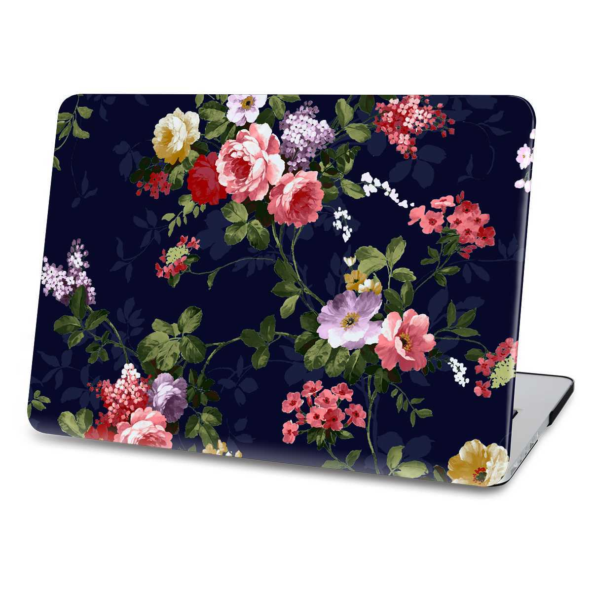 black flower macbook case