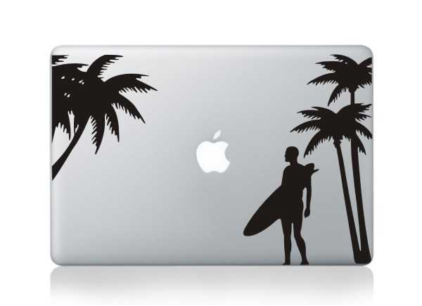 surfing macbook decals