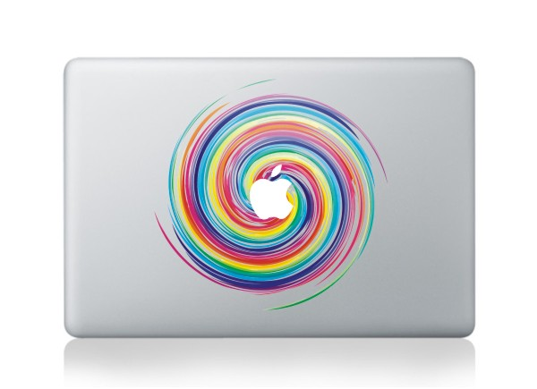 rainbow macbook decals