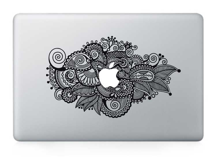 flower macbook decals