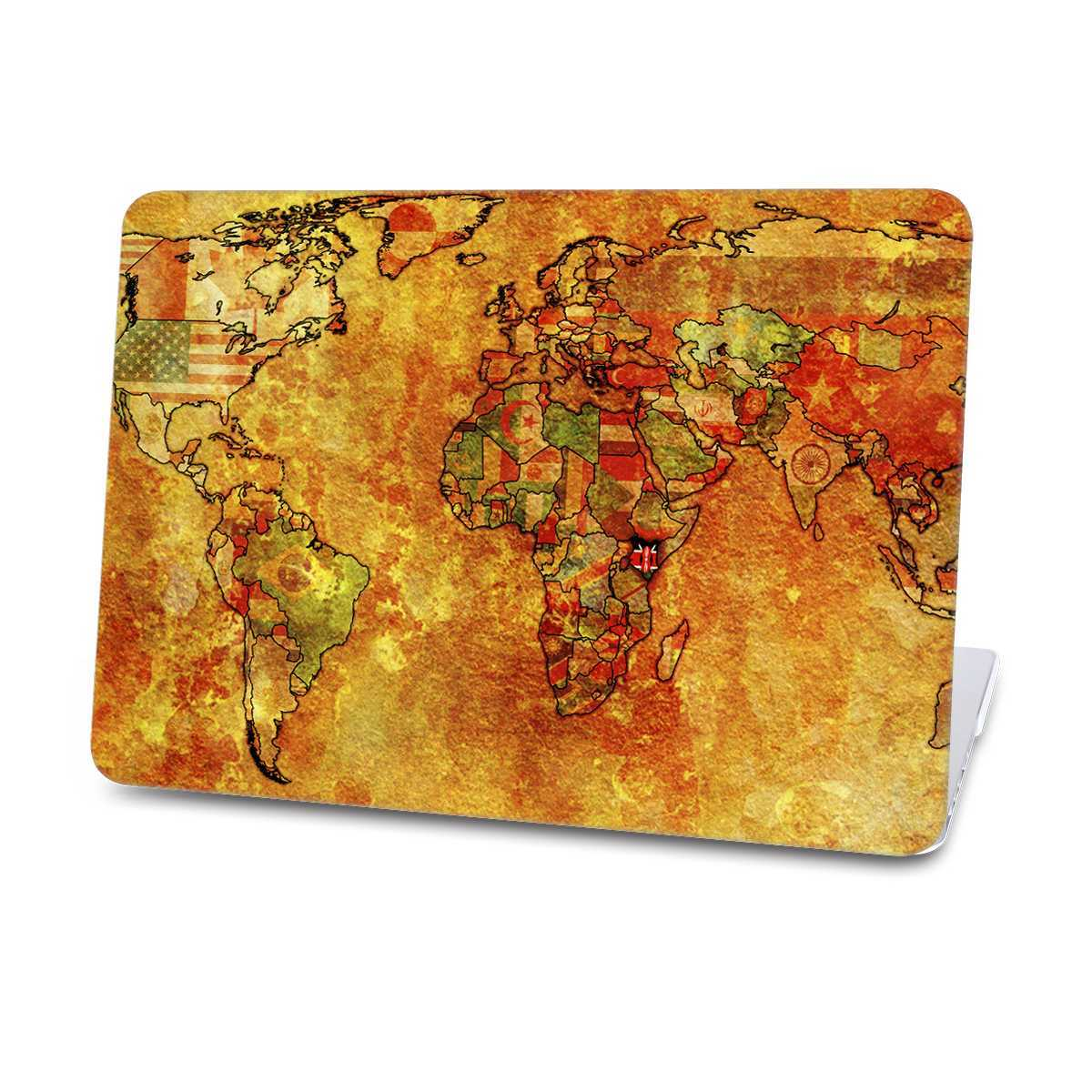 worldmap flag macbook case