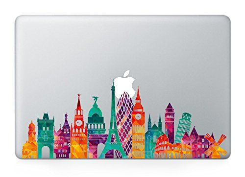 Paris skyline macbook decals