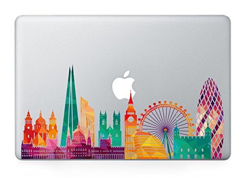 London skyline macbook decals