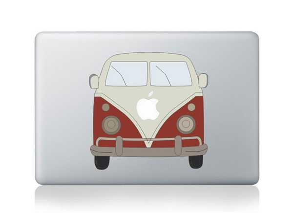 bus macbook decals