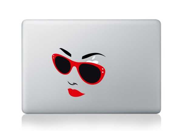 girl macbook decals