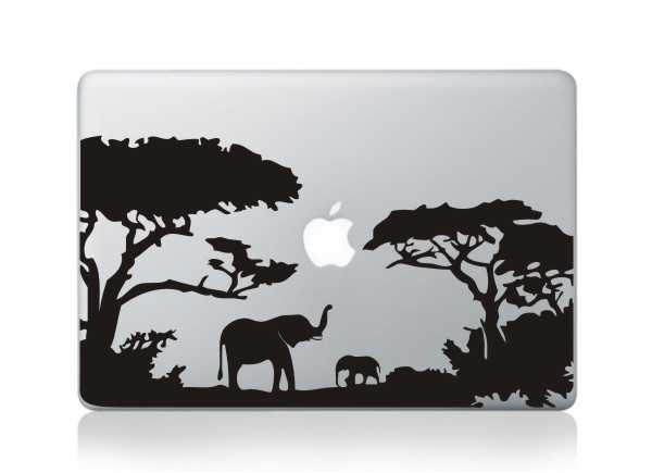 elephant tree macbook decals