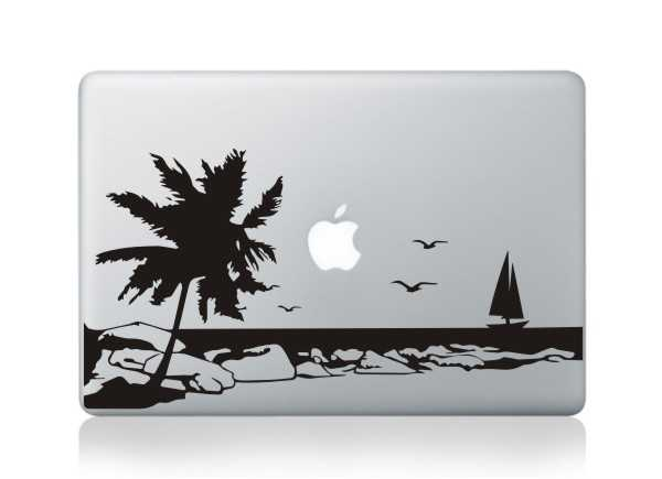 beach macbook decals