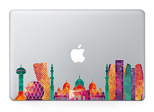 Abu Dhabi skyline  macbook decals