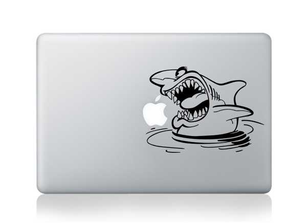 shark macbook decals