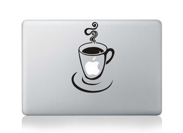 coffee macbook decals