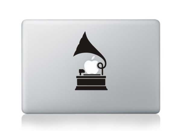 phonograph macbook decals