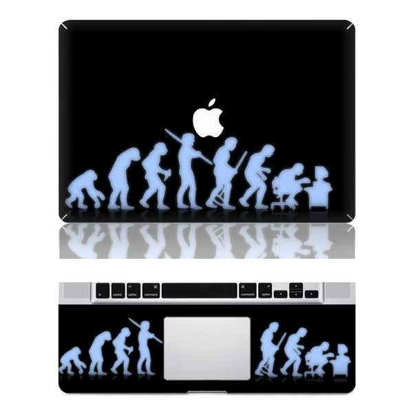 evolution macbook skin decal