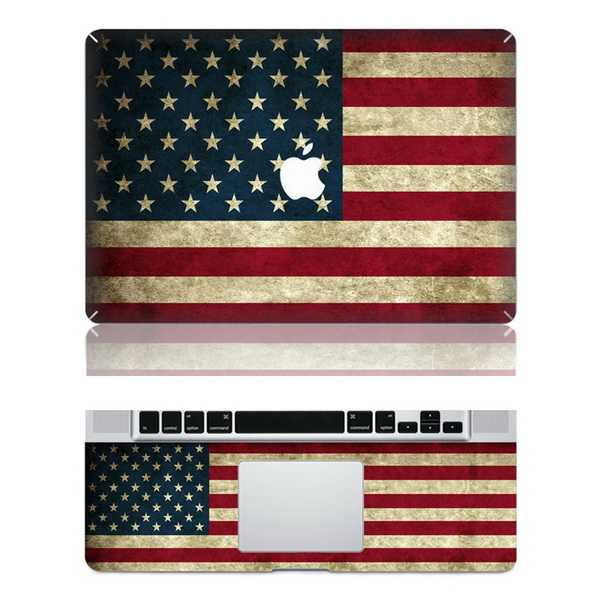 USA macbook skin decal