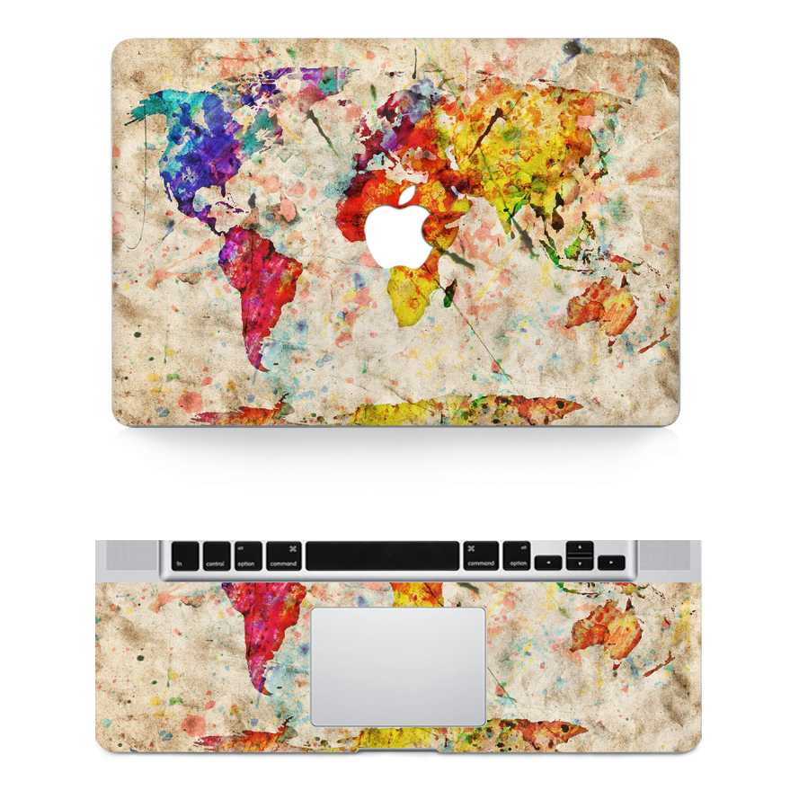 map macbook skin decals