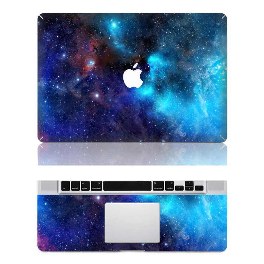 blue nebulae macbook skin decal