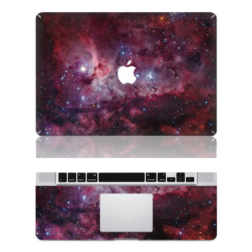 red macbook skin decal