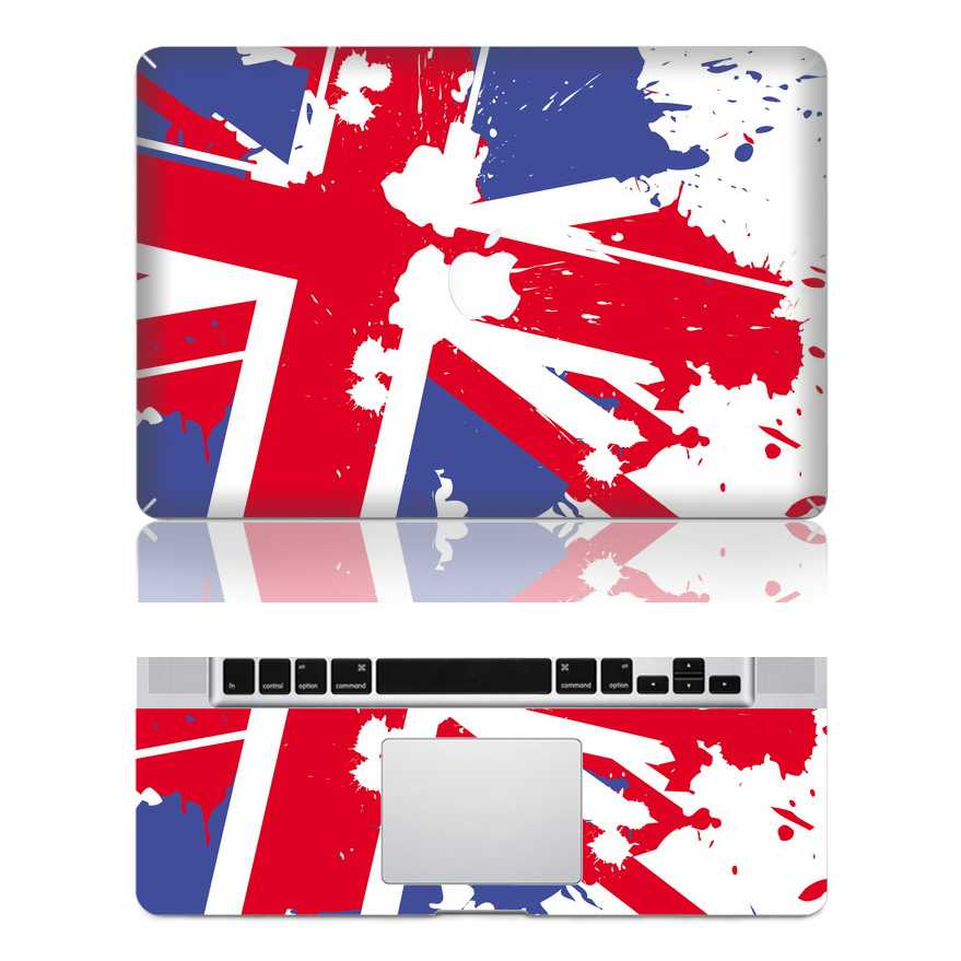 UK macbook skin decal