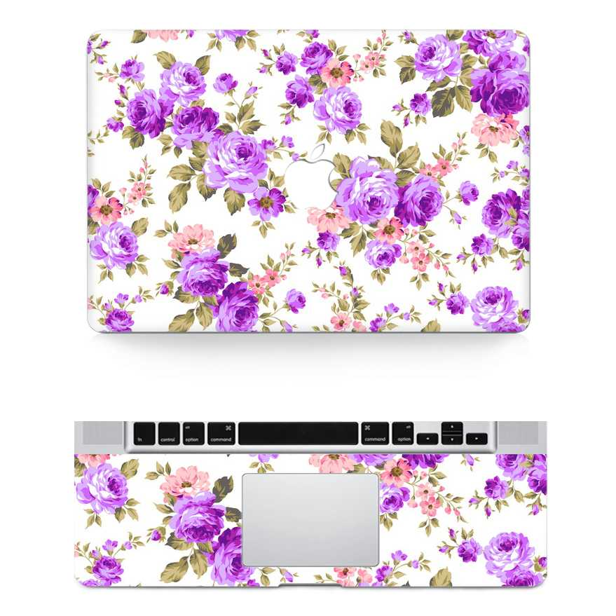 flower macbook skin decal