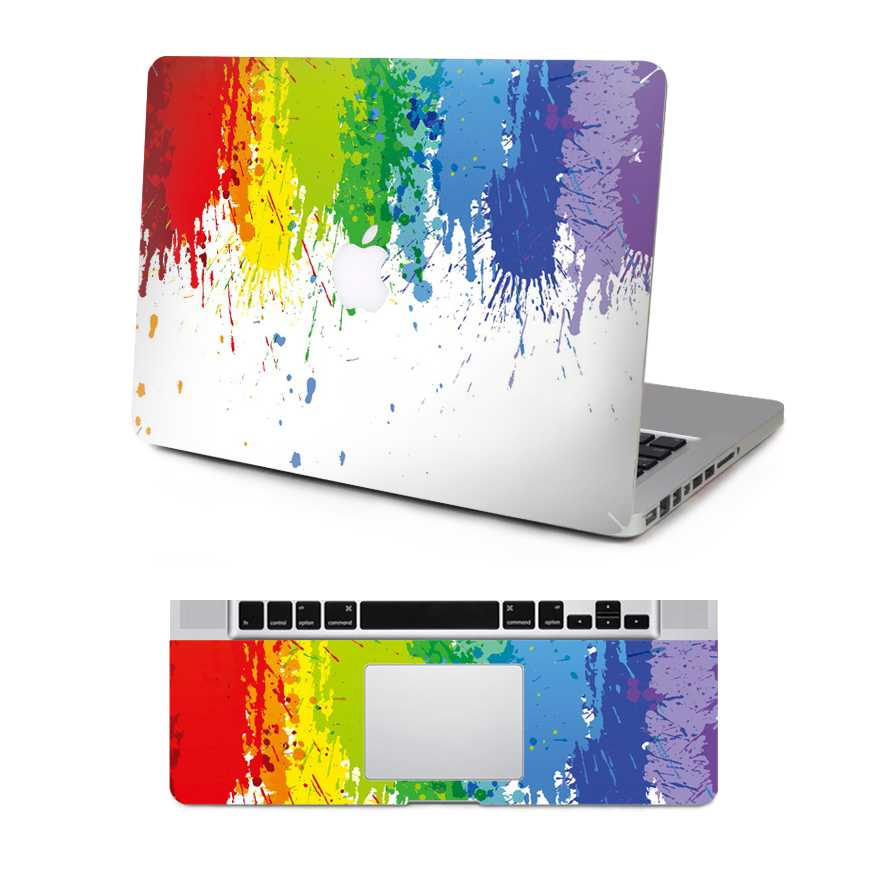 paint macbook skin decal