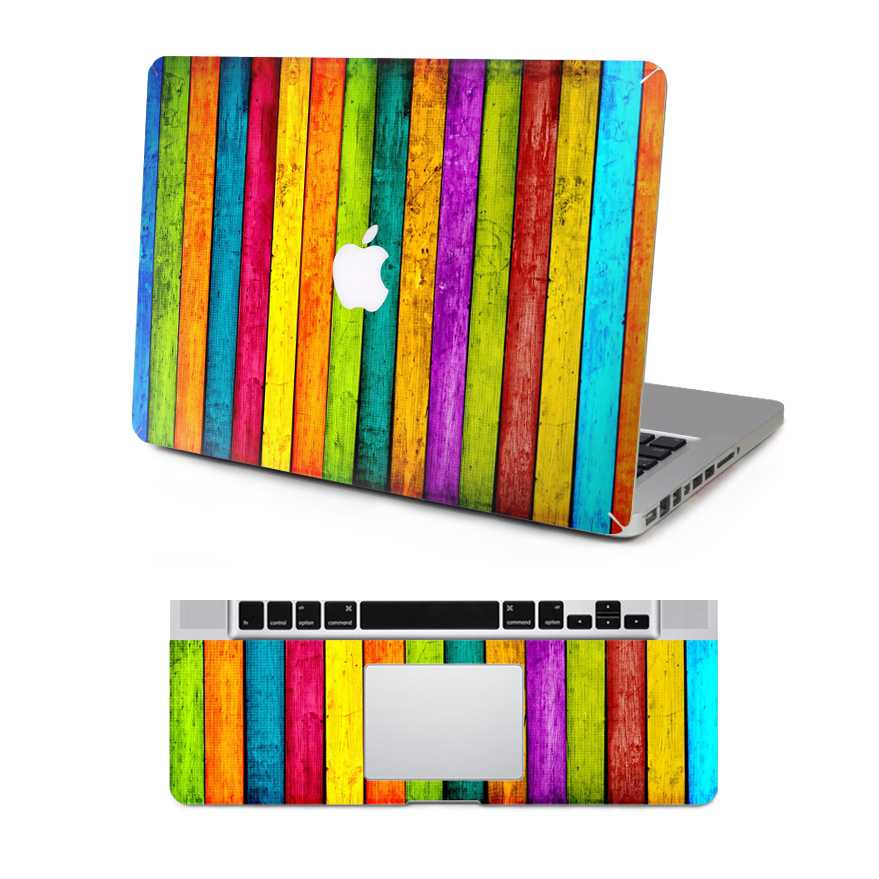 colorful macbook skin decal
