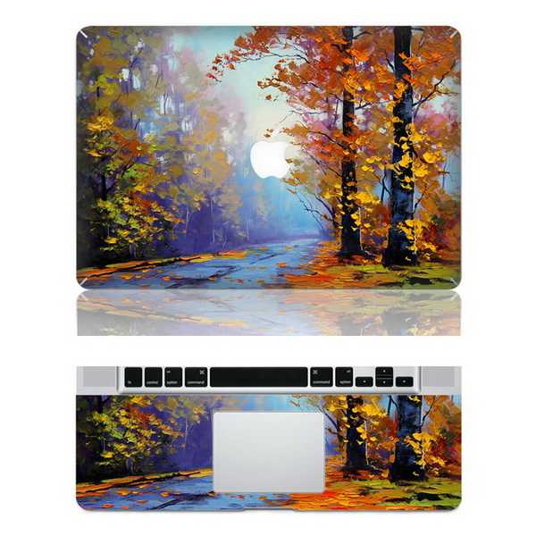 autumn macbook skin decal