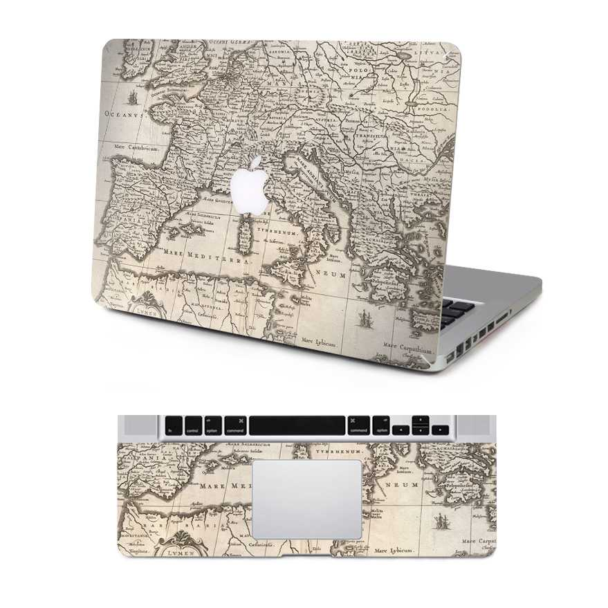 Map macbook skin decal
