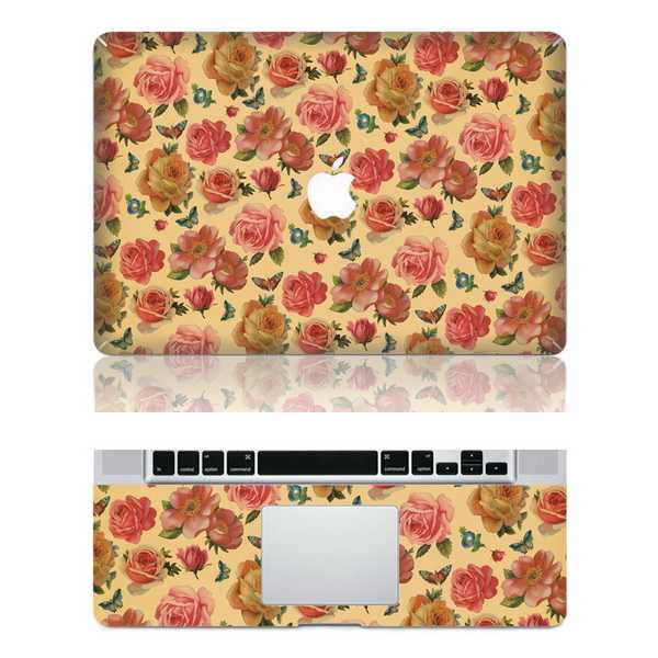 rose macbook skin decal