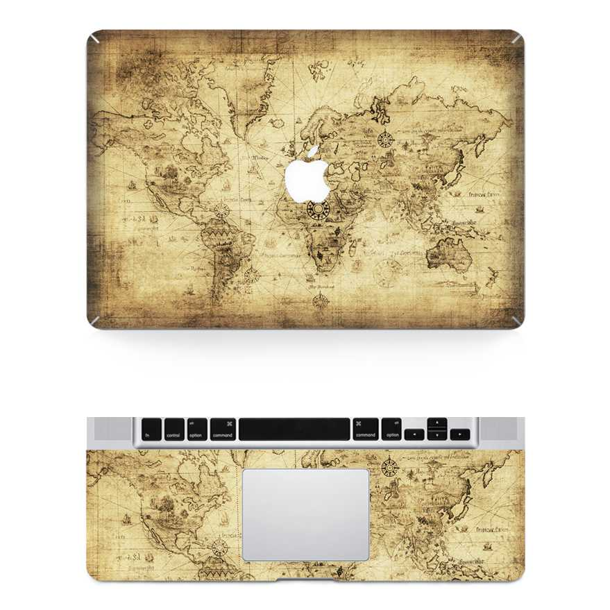 worldmap macbook skin decal