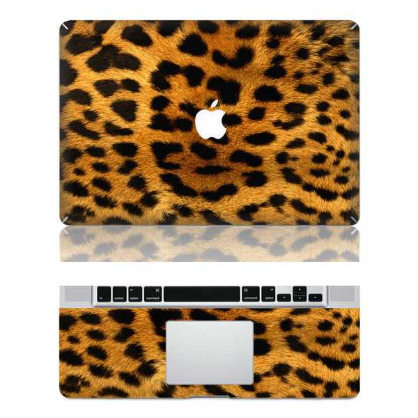 leopard print macbook skin decal