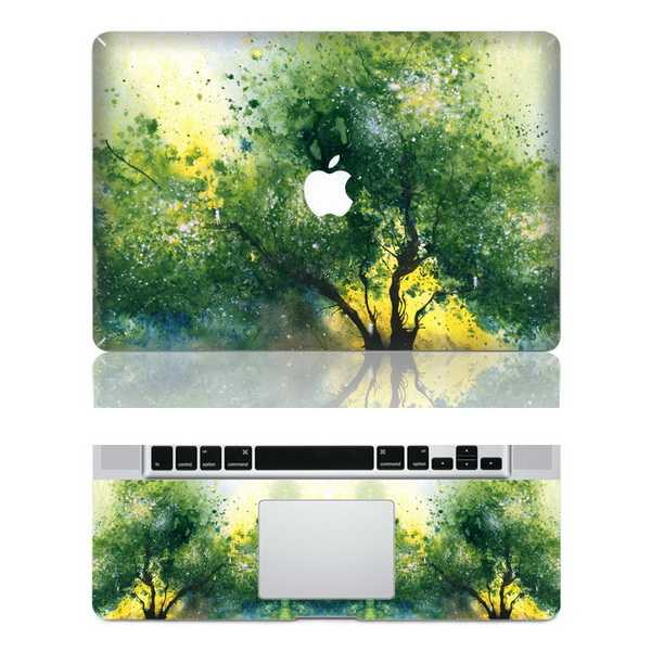 green tree macbook skin decal