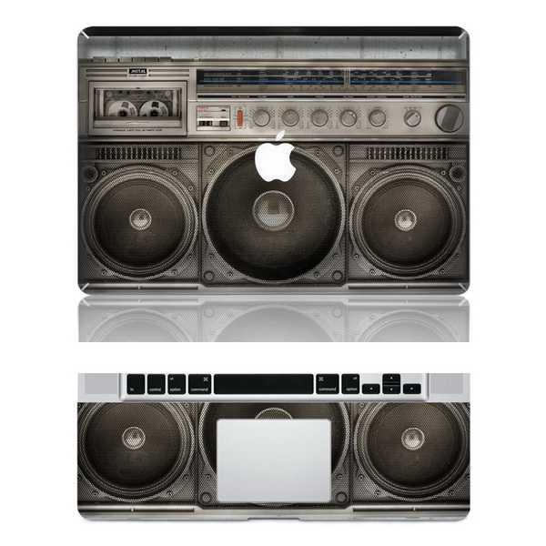 Old radio macbook skin decal