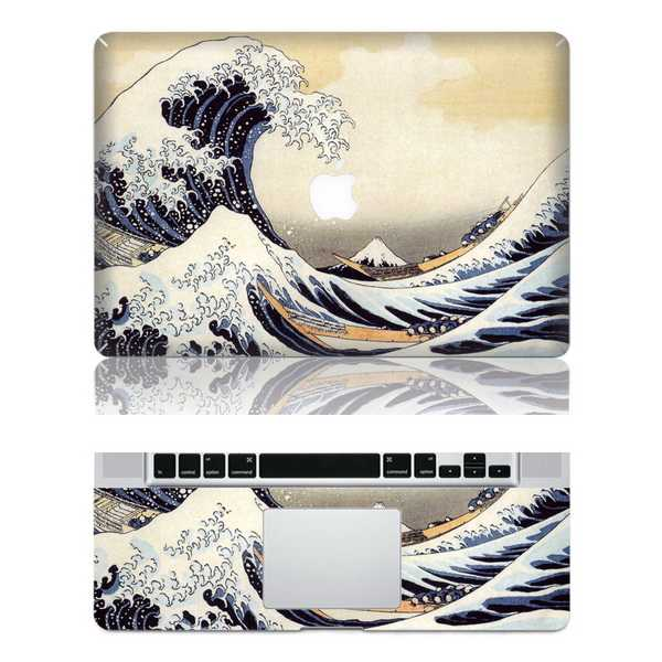 sea wave macbook skin decal