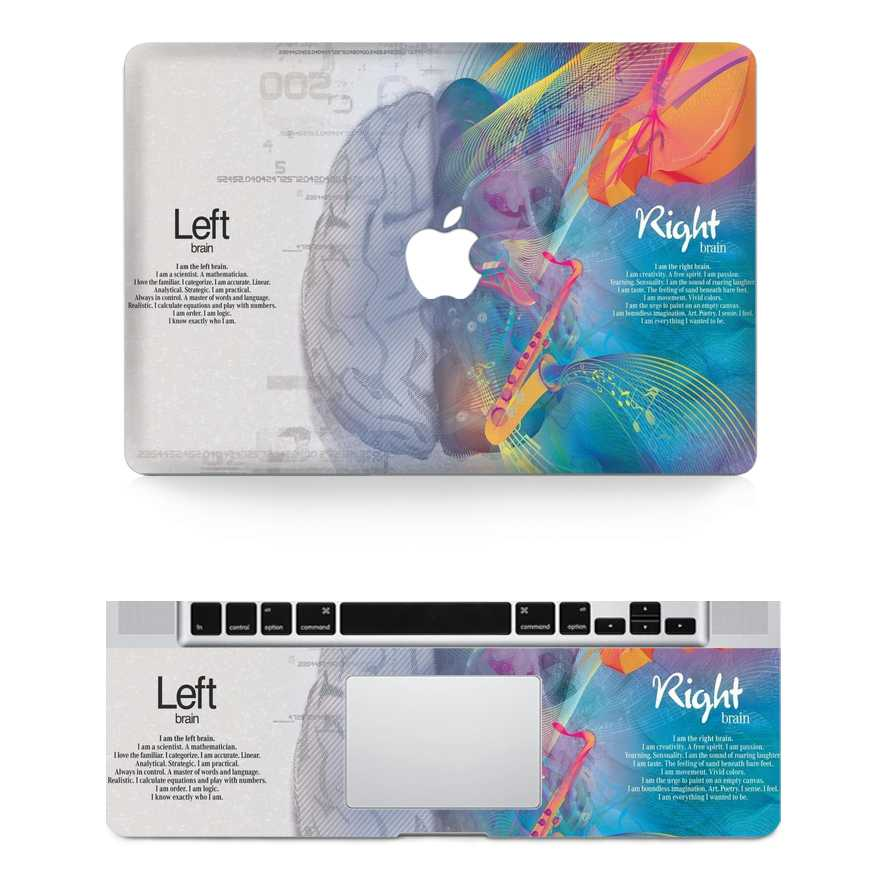brain macbook skin decal