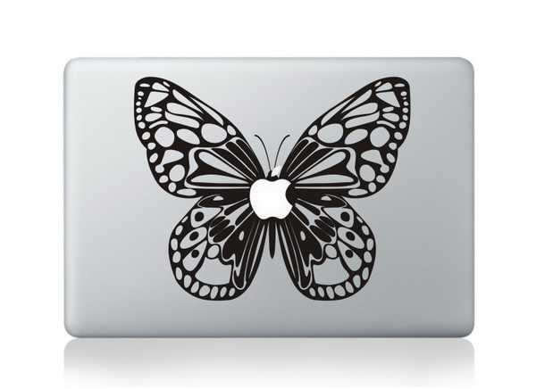 butterfly macbook decals