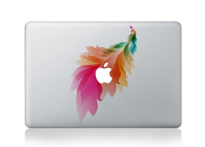 peacocks macbook decals