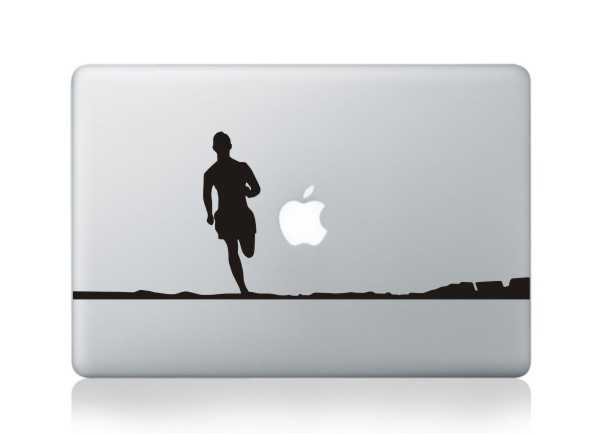 Running macbook decals