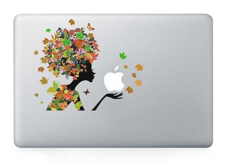 butterfly girl macbook decals