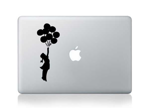 balloon macbook decals