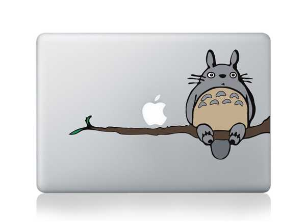totoro macbook decals